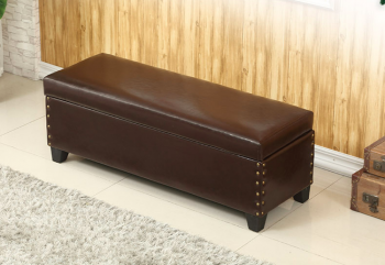 Sex Doll Dark Brown Storage Couch