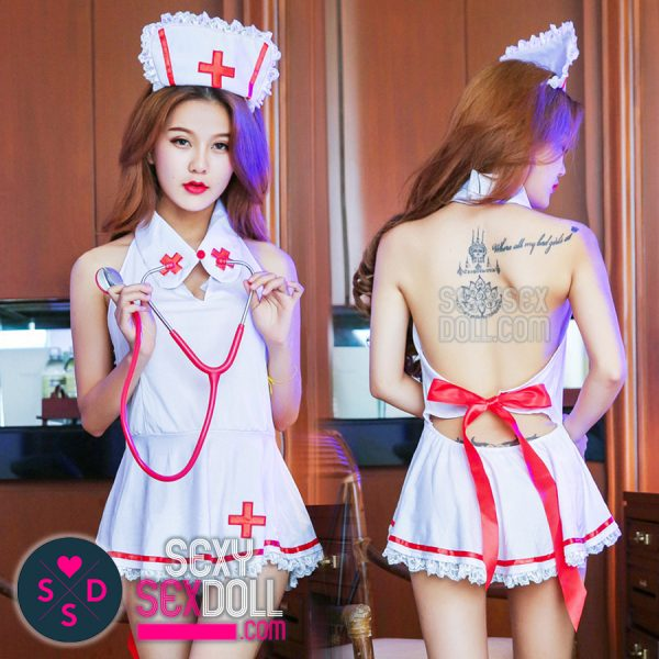 Open Back Nurse Uniform