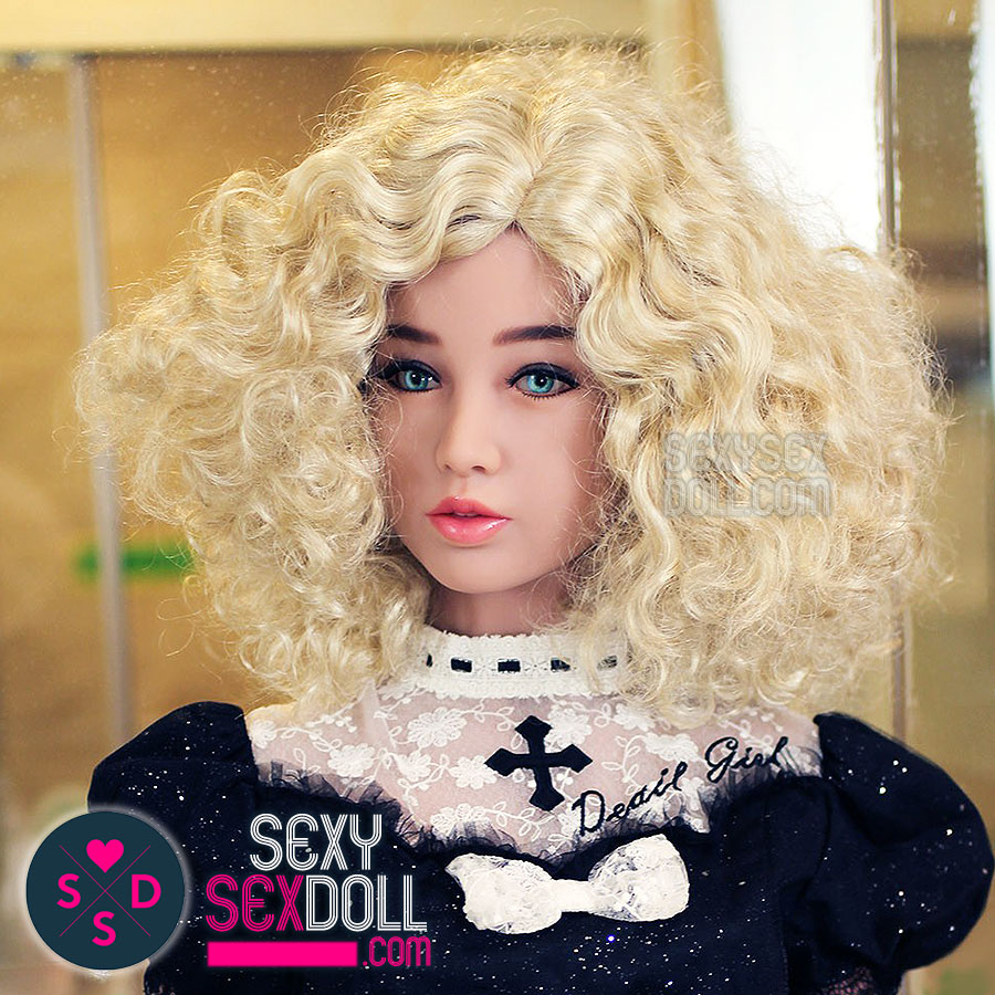 Sex Doll Wig-Short Curly Blonde