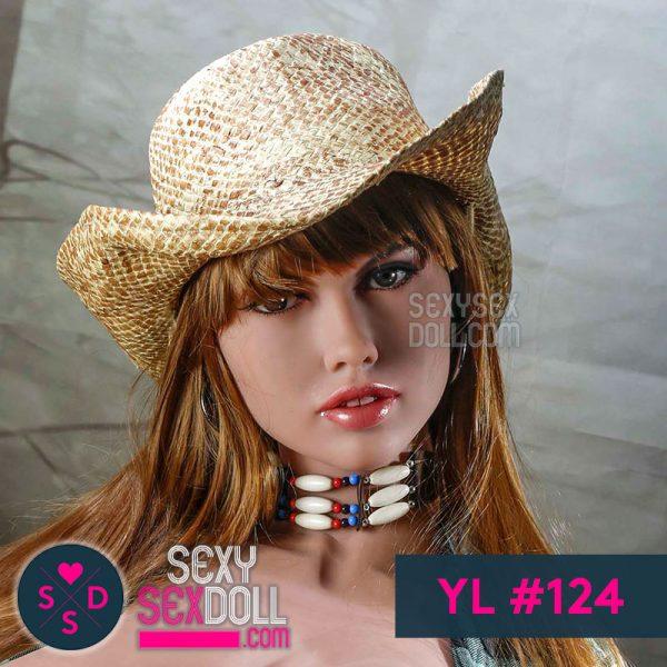 YL Sexy Sex Doll Head #129 Cecilia