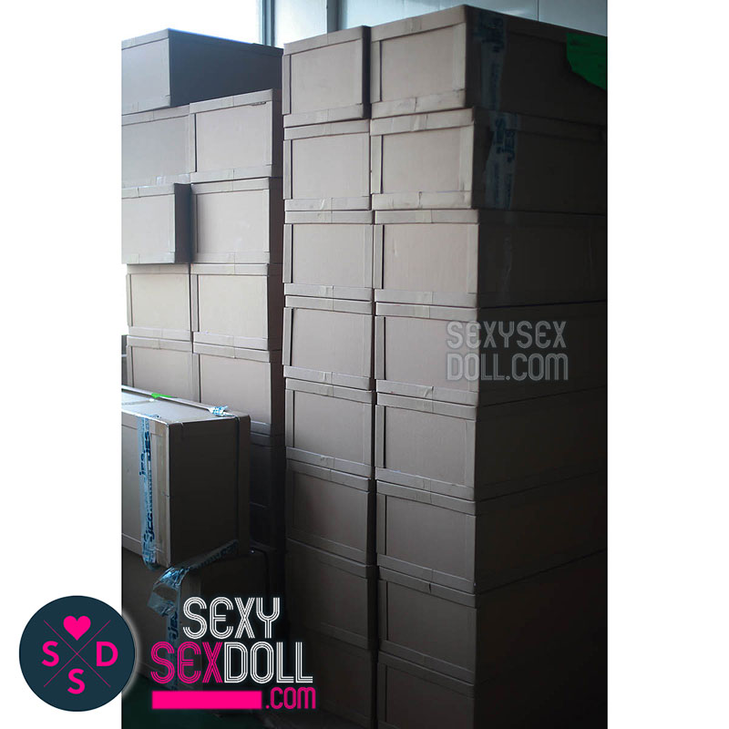 sex doll factory-Stack of Organized Sex Doll Boxes