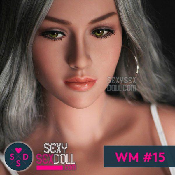 WM Beautiful Sex Doll Head #15