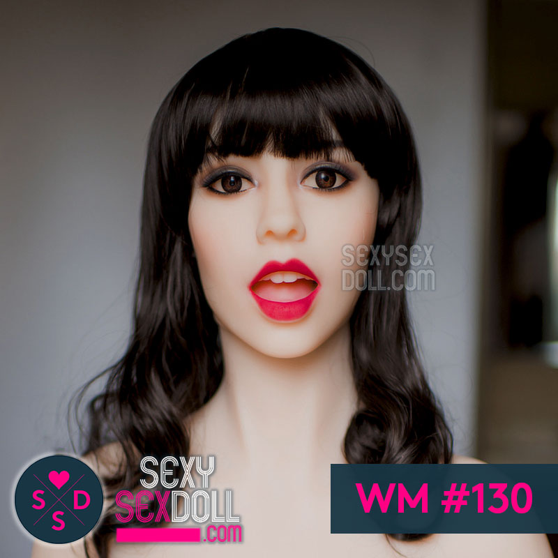 WM 130 sex doll head open mouth
