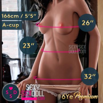 6YE 166cm A cup Flat Chest Love Doll Body