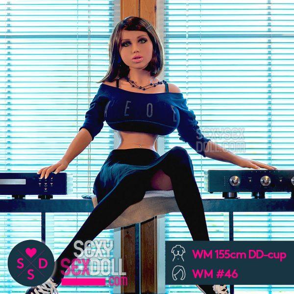 黒ギャル女子校生ドール WM製155cm DD-cup + WM ヘッド #46 ヒラリー