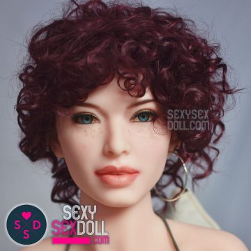 Red Curvy Wig for Sex Doll 6Ye Premium Sex Doll wig SexySexDoll