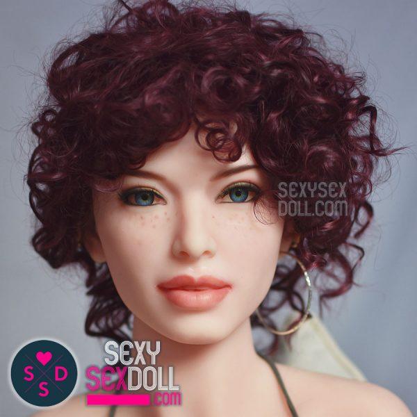 Red Curvy Wig for Sex Doll 6Ye Premium Sex Doll wig SexySexDoll