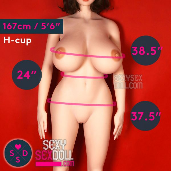 WM 167cm (5ft6in) H-cup Busty Hourglass Sex Doll, Choose A Face to Match!