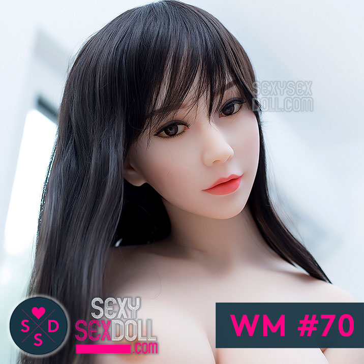 Japanese love dolls WM sex doll head #70 Rumi