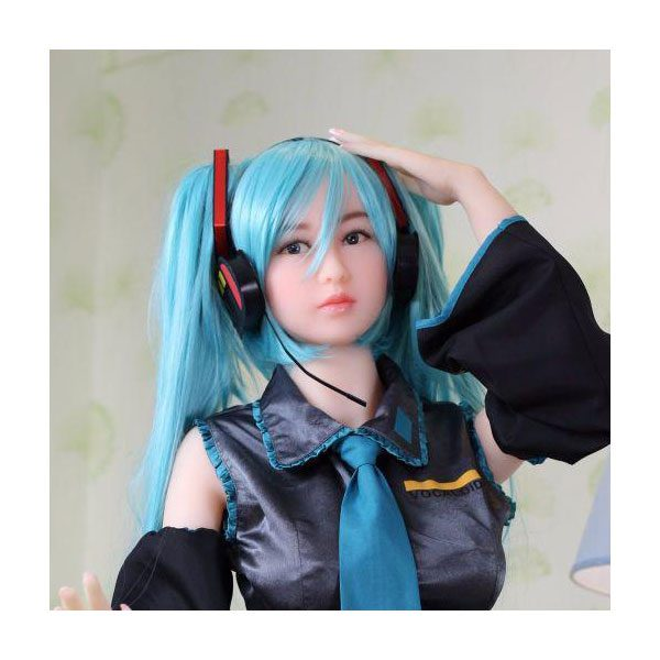 Sex doll wig (Long Aqua Blue Wig) for Sex Doll