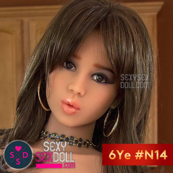 六野(6Ye)素人娘ラブドールの頭部 #N14 - 美知香