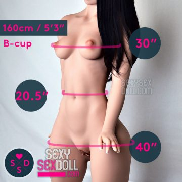 WM 160cm (5ft3in) B-cup Sexy Bump butt Sex Doll body