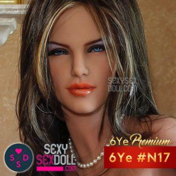 6Ye Premium Sex Doll Head #N17 - Slutty Britney