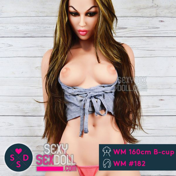 WM doll 160cm B-cup Sex Doll head 182