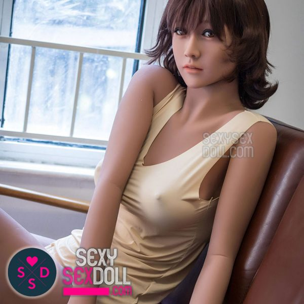 Realistic TPE sex doll WM 163cm C-cup Shrug Japanese love doll face #85 Aino
