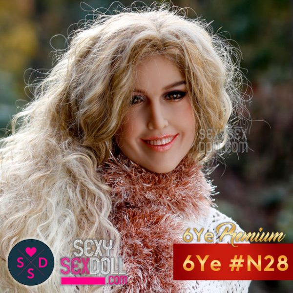 6Ye Premium Smiley Sex Doll Face #N28