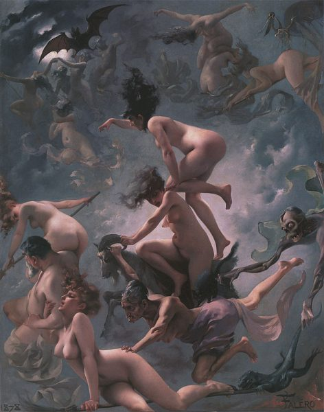 naked witches in flight