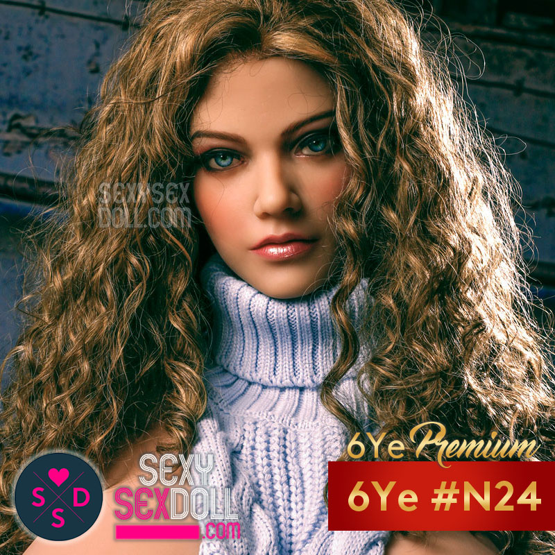 6Ye Premium Beautiful Sex Doll Face #N24 Adèle B