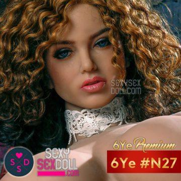 6Ye Premium Sex Doll Head N27 tan