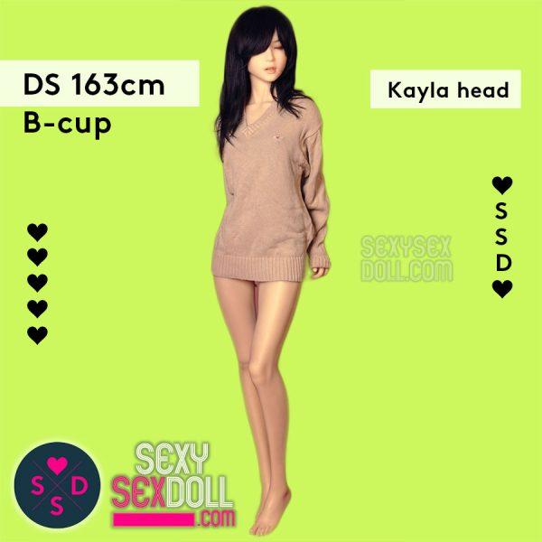 Premium Silicone Sex Doll - Doll Sweet 163cm B-cup Body Kayla