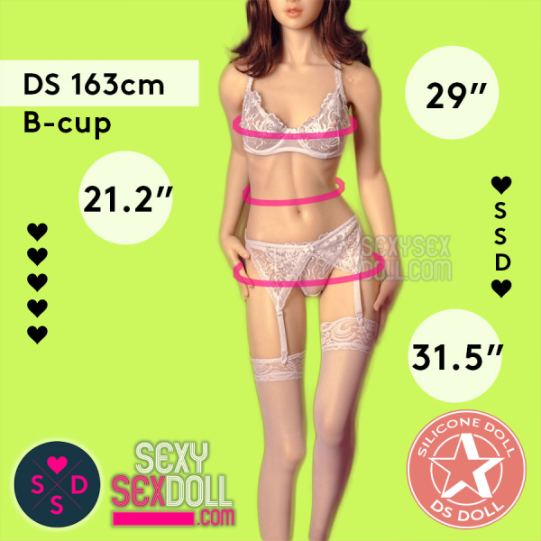 Premium Silicone Sex Doll - Doll Sweet 163cm B-cup Body