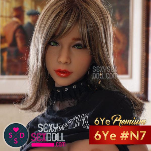 六野(6Ye)美しい顔ラブドールのヘッド単体 #N7 - 羽奈子