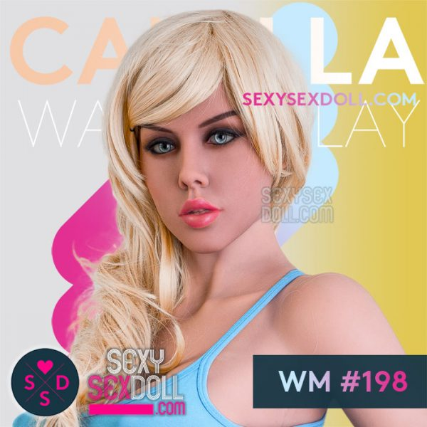 Porn Star Sex Doll head WM #198 Camilla