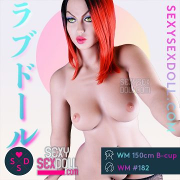 Huge Butt Sex Doll WM 156cm B-cup Head 182 Sandra