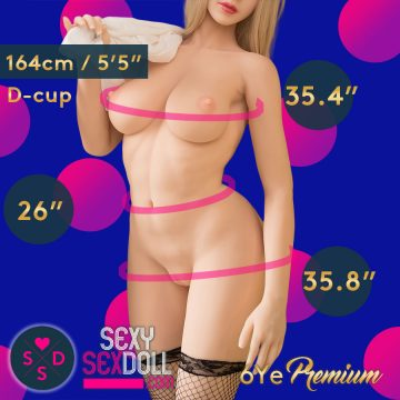 Super curvy queen life-like TPE Sex Doll 6Ye Premium 164cm D-cup