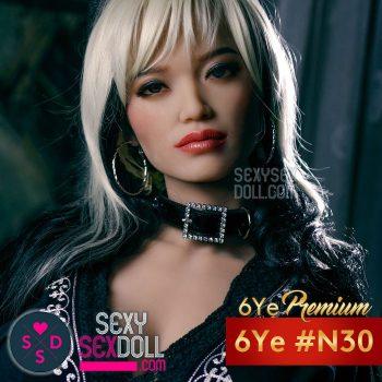 六野(6Ye)美しい顔ラブドールのヘッド単体 #30 琴乃