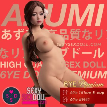 Realistic Round Boobs Sex Doll 6Ye 161cm E-cup head 41 AZUMI