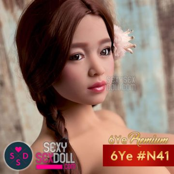 cute Asian realistic doll head
