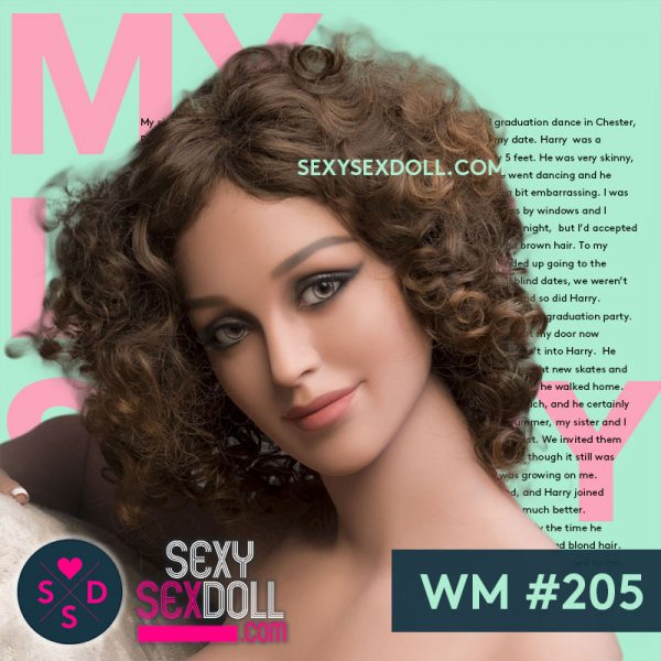 Human life-like smiling sex doll head WM #205 UMA