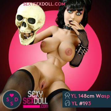 Gothic Sex Doll Raven Rockette 148cm-Wasp Waist