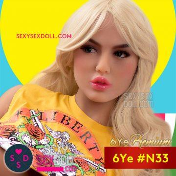 Hot Chick Sex Doll Head 6Ye N33