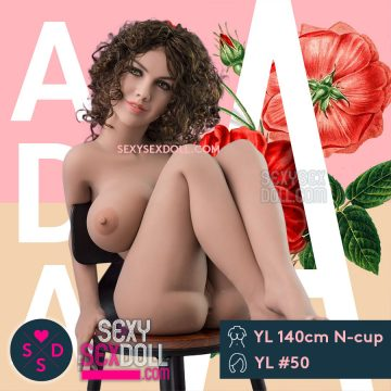 Hot Adult Sex Doll 140cm N-cup Busty Ada head 50