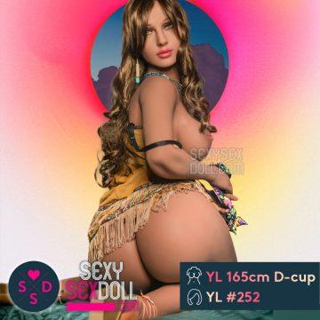 Seductive Native American Indian Sex Doll 165cm D-cup Laeticia