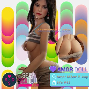 Amazing Sex Doll Amor 162cm B-cup Big Butt correct vagina position Head N42 Jenna