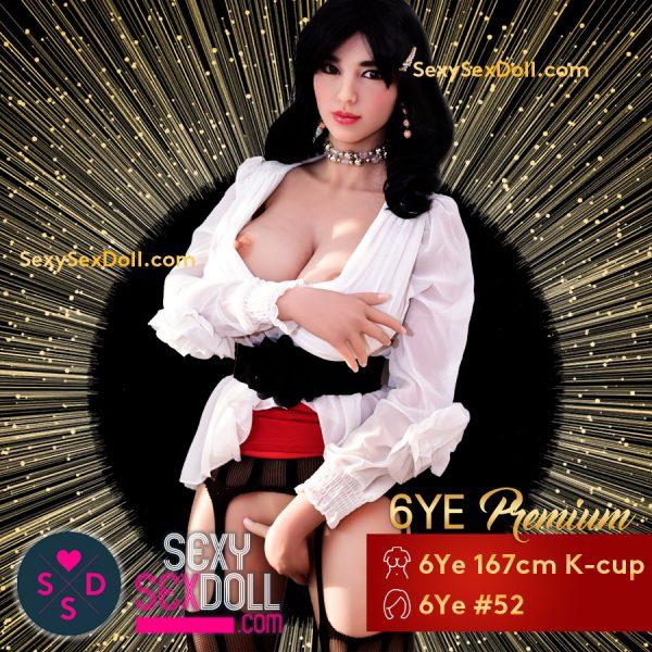 Innocent Asian Wet Nurse Sex Doll 167cm K-cup Head 52 Nancy