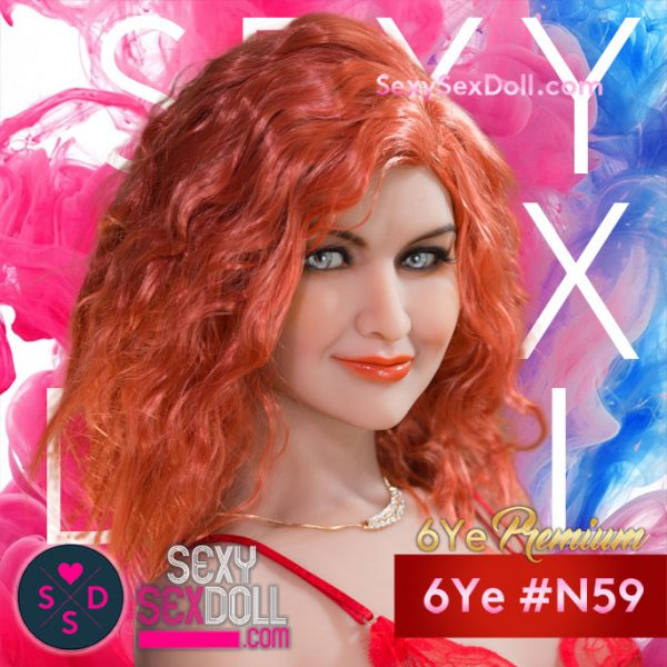 Slight Smile Sex Doll Head 6Ye N59 Gabby