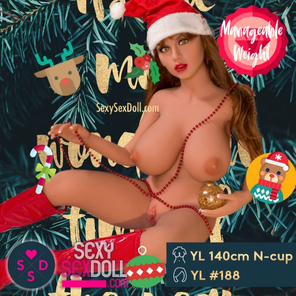 Christmas Sex Doll YL 140cm 4ft7 N-cup Head 188 Rebecca