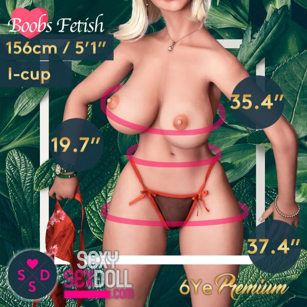 Boobs Fetish Sex Doll 6Ye 156cm I-cup Body