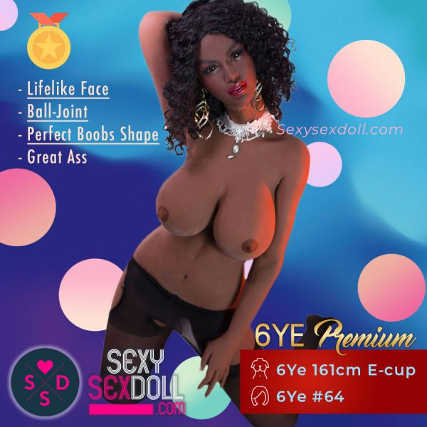Hot Black Sex Doll 6Ye 161cm E-cup Head 64 Gabrielle Union