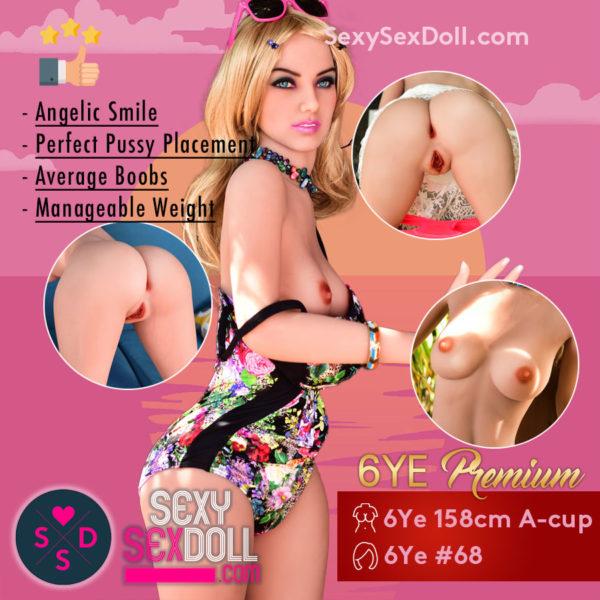 Small Chest Sex Doll 6Ye 158cm A-cup Premium Head 68 Kira