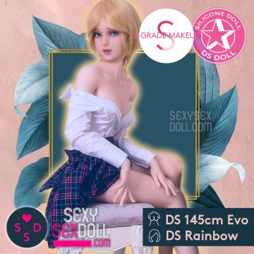 Naughty Girl Sex Doll DS Silicone 145cm Evo Head Rainbow