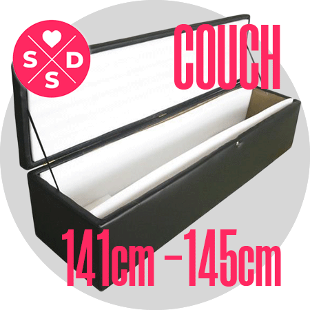 Couch: 141cm – 145cm / 4'7″