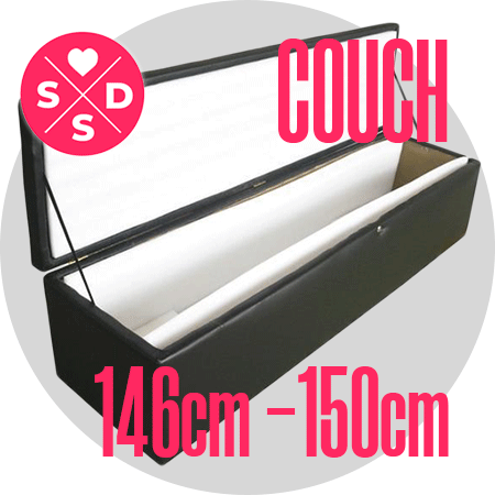 Couch: 146cm – 150cm / 4'9″